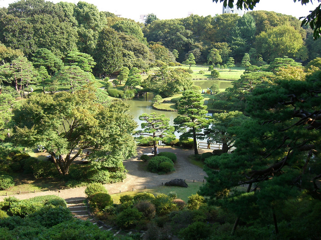 Rikugien garden Tokyo Japan
